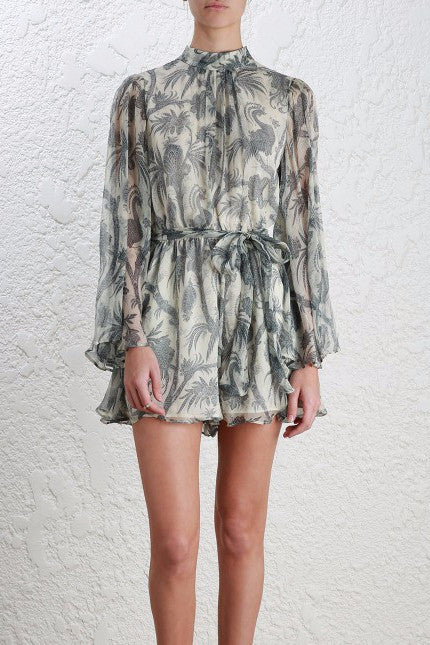 Zimmermann Adorn Flare Sleeve Playsuit - NO LONGER AVAILABLE - Never Twice
