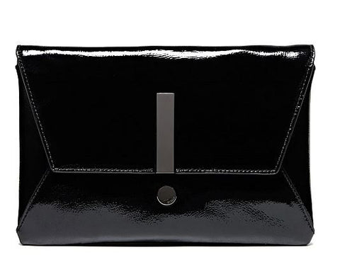 MIMCO Exclamation Clutch Black Patent - Never Twice