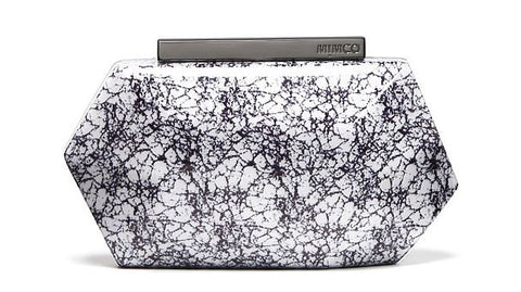 MIMCO Flicker Hardcase Clutch Marble - Never Twice