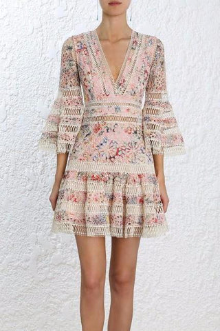Zimmermann Lovelorn Floral Flutter Dress - Never Twice