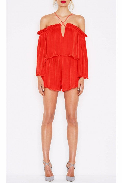 Alice McCall Red Locomotion Playsuit - NO LONGER AVAILABLE - Never Twice