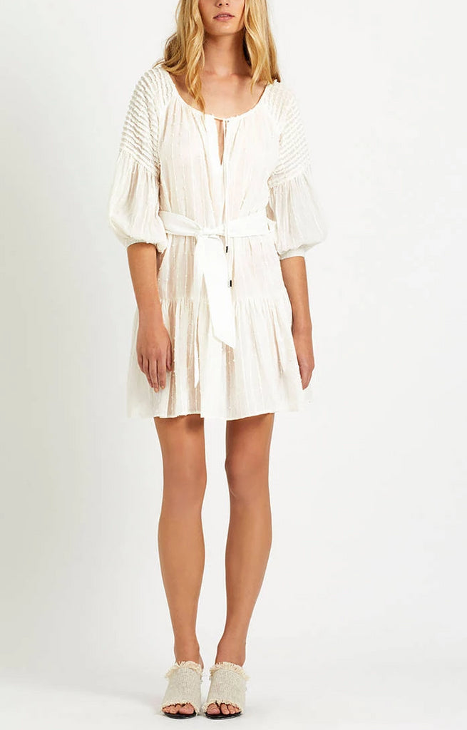 Steele. Bisou Smock Dress in Ivory - Never Twice
