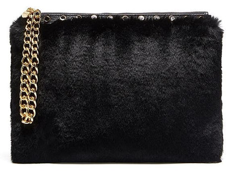 MIMCO Cuddle Large Pouch in Black - Never Twice