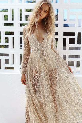 Luxe Fasion Liquid Gold Dress
