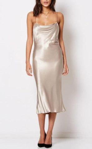 Bec & Bridge Kaia Cowl Dress in Sand - Never Twice