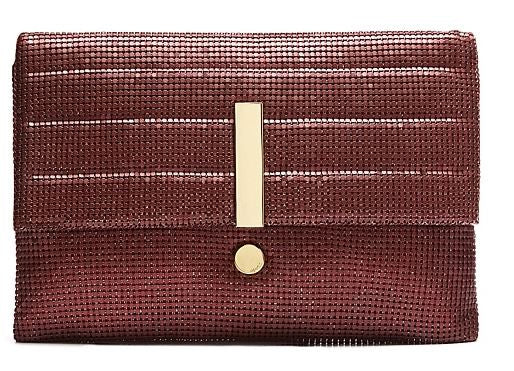 MIMCO Exclamation Clutch Bordeaux Metal Mesh - Never Twice