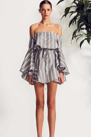 Shona Joy Tortuga Off the Shoulder Mini Dress - Never Twice