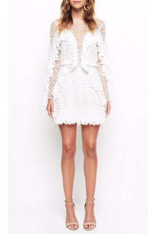 Alice McCall Forever Young Dress in Porcelain - Never Twice