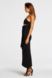 Side veiw Maurie & Eve After Midnight Dress in Black