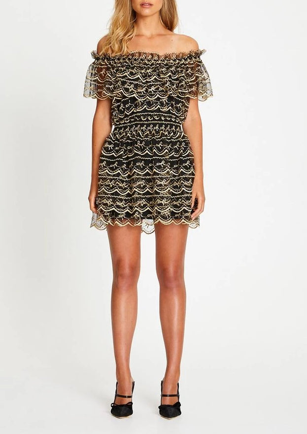 Alice McCall Satellite Mini Dress in Black