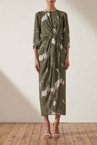 Shona Joy Harper Tie Front Midi Dress - Never Twice
