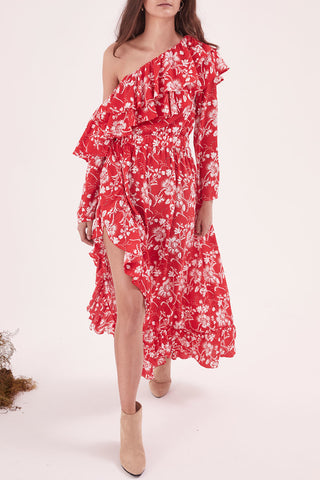 Steele. Wildflower Shoulder Dress - Never Twice