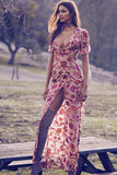 Going out in a For Love & Lemons Saffron Maxi Dress