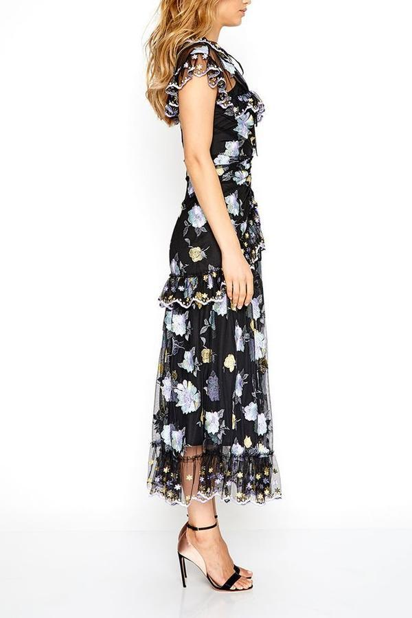 a10492430c78 Alice McCall Floating Delicately Dress in Black - Never Twice. Images / 1 /  2 / 3 / 4 ...