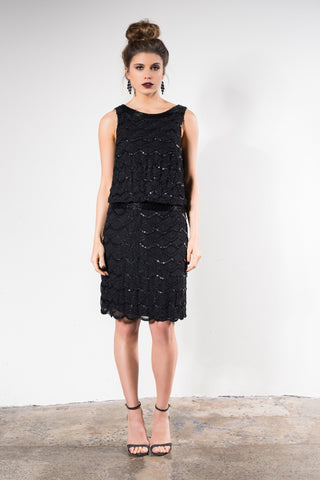 Grace & Blaze Ritz Cocktail Dress in Black