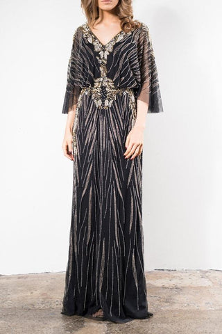 Grace & Blaze Opera Evening Gown in Black - Never Twice