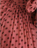 Zimmermann Espionage Rosewood Dot Dress
