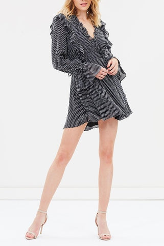 Shona Joy Salinger Ruffle Mini Dress - Never Twice