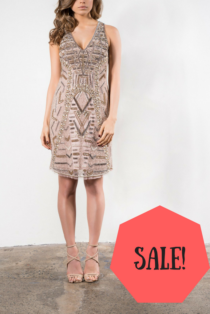 On sale Grace & Blaze All That Shines Cocktail Dress in Blush