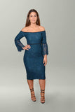 Front view Elle Zeitoune Mendel Dress in Deep Jade