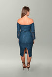 Back view Elle Zeitoune Mendel Dress in Deep Jade