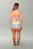 Back view Camilla Dress Up Box Strapless Mini