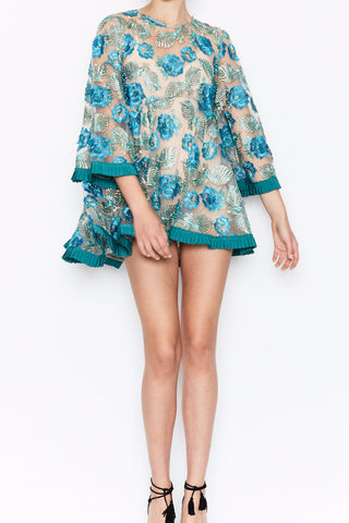 Alice McCall Jupiter Swing Dress in Turquoise - Never Twice
