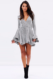 Shona Joy Bonnie Frill Cuff Drawstring Mini Dress
