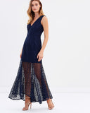 Keepsake the Label About You Lace Gown in Navy - Never Twice
