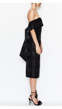 Side view Alice McCall The Monroe Dress in Black