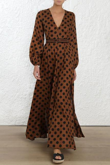Zimmermann Juno Split Long Dress - Never Twice