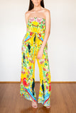 Camilla Love Birds Tie Waist Strapless Jumpsuit - Never Twice