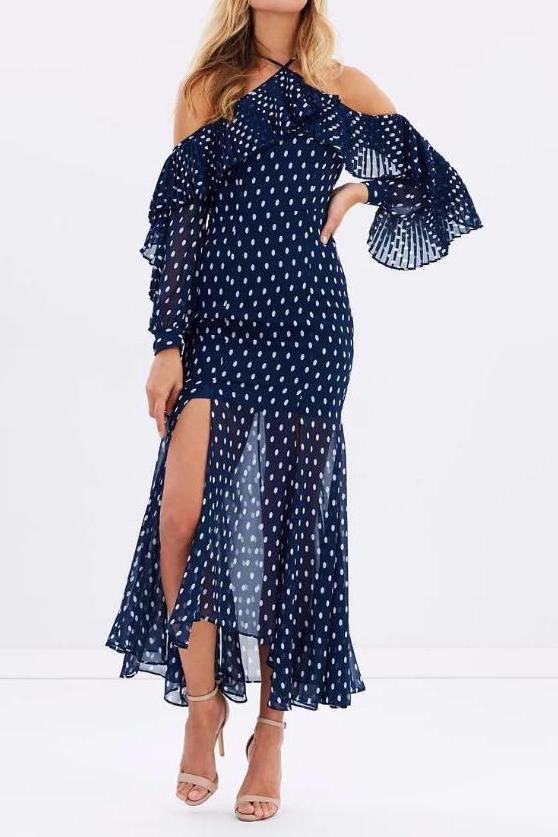 Keepsake the Label Don't Wait Maxi Dress in Navy - Never Twice