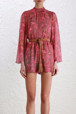 Zimmermann Karmic Flare Sleeve Playsuit - Never Twice