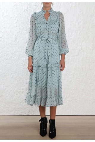 Zimmermann Whitewave Bib Dress