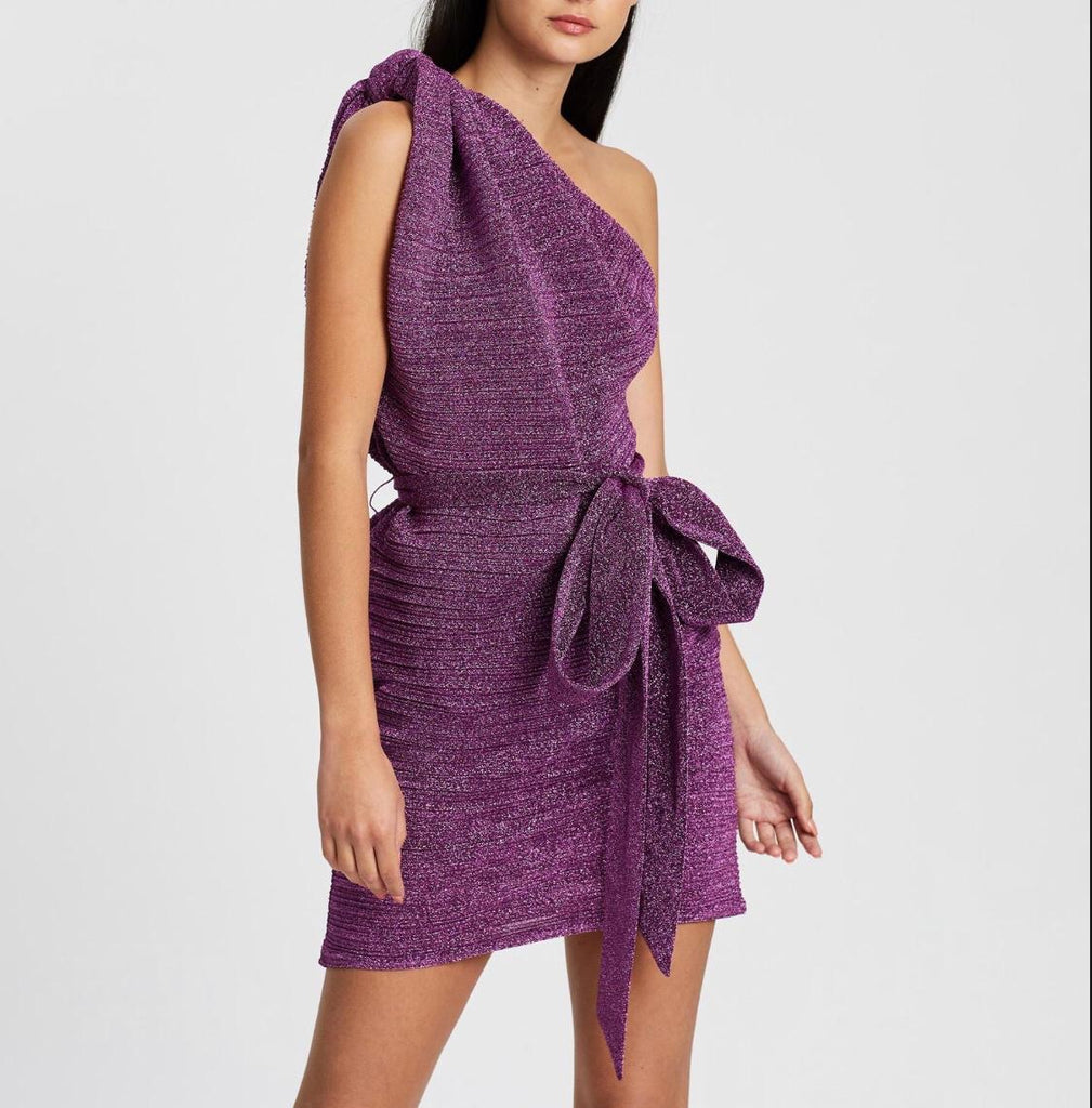 By Johnny Knot Now Mini Dress in Violet