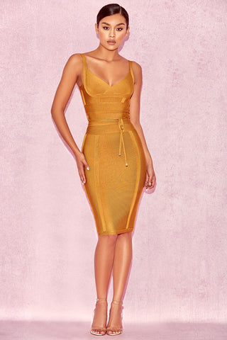 House of CB Belice Dress in Ginger - Never Twice