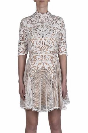 Thurley Enchanted Garden Mini Dress in Ivory - Never Twice