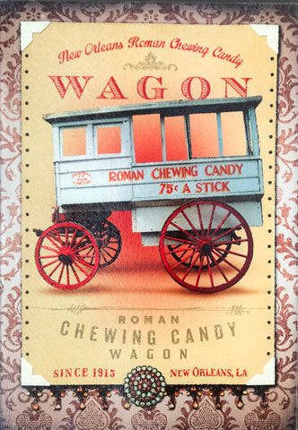 CB-ROMAN CANDY MAN WAGON Glass Cutting Board