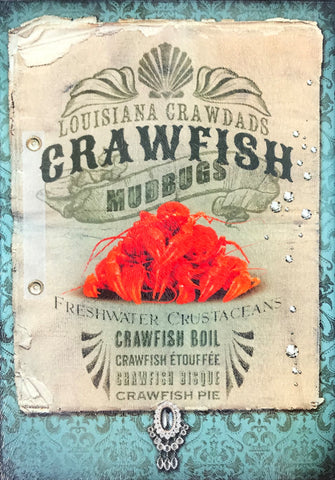CB-LOUISIANA BOILED CRAWFISH Glass Cutting Board