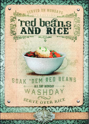 CB-RED BEANS Glass Cutting Board