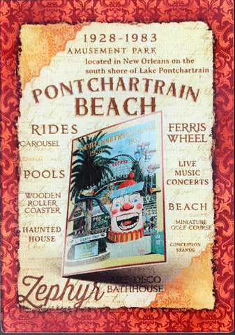 CB-PONTCHARTRAIN BEACH Glass Cutting Board