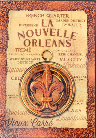 CB-LA NOUVELLE ORLEANS Glass Cutting Board