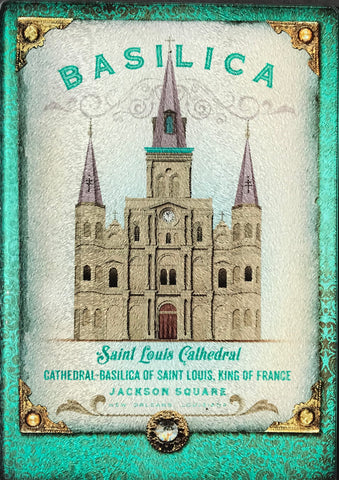 CB-ST LOUIS CATHEDRAL Glass Cutting Board