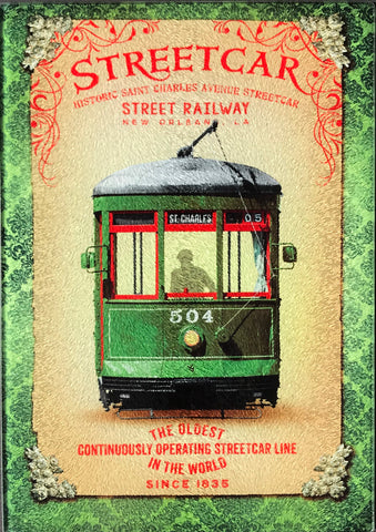 CB-NEW ORLEANS STREETCAR Glass Cutting Board