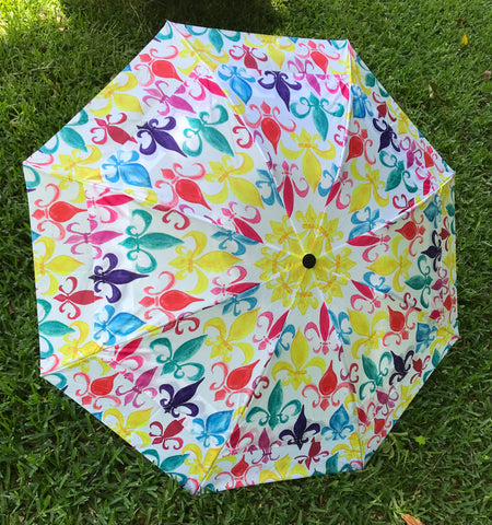 Umbrella COLORFUL FLEUR DE LIS