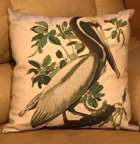 Pillow Brown Pelican
