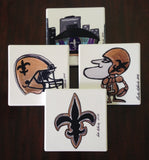 Absorbant Sandstone Coasters  Saints