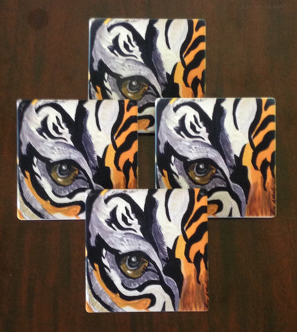 Absorbant Sandstone Coasters  Tiger