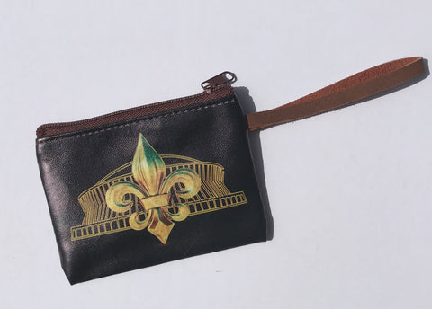 Coin Purse - Black & Gold Superdome